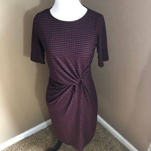 Ginger G gathered waist dress crew neck Medium